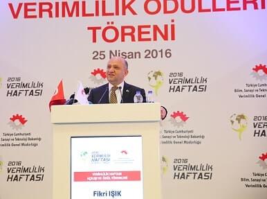 2016 Verimlilik Proje Ödülleri Fikri Işık
