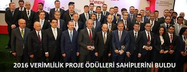 2016 Verimlilik Proje Ödülleri