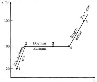 Saf Madde T V Diyagram