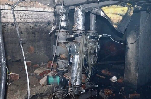 Hot Water Boiler Explosion