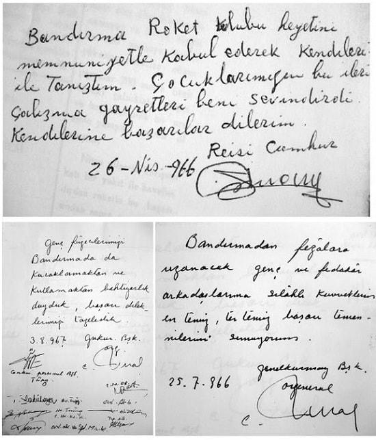 Bandirma Füze Kulubü Mektuplar