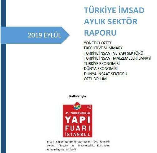 Türkiye İMSAD Eylül 2019 Sektör Raporu