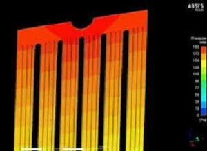 transformatör radyatöründe akış